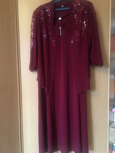 платья костюмы вечерние в Кыргызстан: Продаю женский костюм: платье и жакет, очень красивый и нарядный с