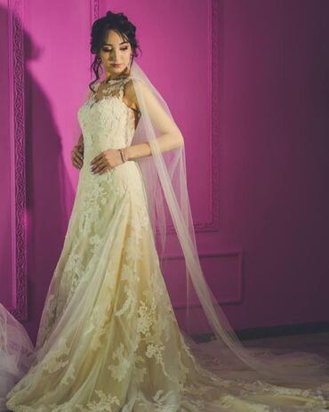 """свадебные платья хиджаб в Кыргызстан: Срочно Продаётся свадебная платье Рыбка от испанского дома """"Pronovias"""""""