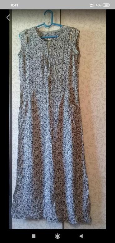Платье женское х/б хорошее состояние б/у. 46-48размер.250сом. в Лебединовка