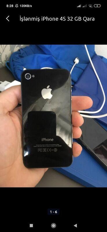 iphone 4s telefon - Azərbaycan: İşlənmiş iPhone 4S 32 GB Qara