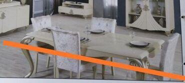 King qonaq destinin stol 6 stulu ideal veziyyetde koc sebebi ile