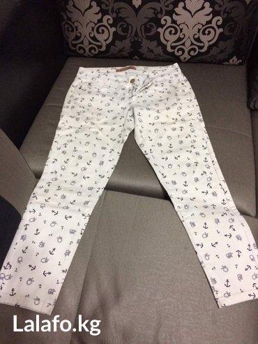 Белые джинсы носили 2 раза в хорошем состоянии размер L в Бишкек
