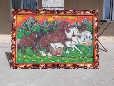 величайшие картины в Кыргызстан: Продаю картину из мрамора. Делаем на заказ