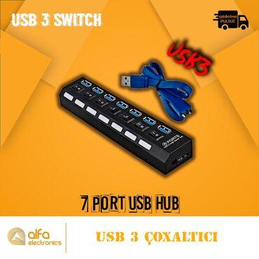 Hi-speed Usb 3 Çoxaldıcı 7 PortBrand: Hi-SpeedQoşulma: UsbSürəti Usb