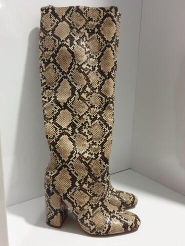 Zara kozne cizme snake print. Broj 37. Nove obuvene jednom