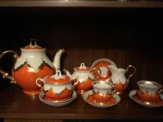 Кухонные принадлежности - Кыргызстан: Фарфоровая роскошь из прошлого - легендарный чайный сервиз Красный