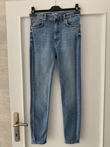 Zara teksas farmerke, 40 broj, duboki model, uske nogavice, skroz