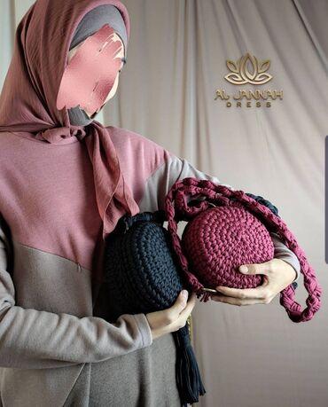 Беретка вязанная - Кыргызстан: Вязаные сумки ручной работы  Все цвета в наличии