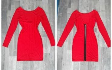 Crvena haljinica sa rajsferslusom pozadi, S-M - Belgrade