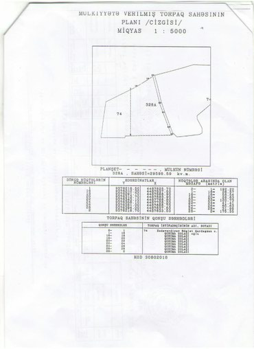 Bakı şəhərində Pirkəşkuldə, kərpic zavodun yaxinliğinda 1250 sot( 12,5 hektar)