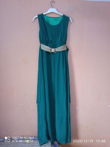чёрное вечернее платье в пол в Кыргызстан: Вечернее платье почти новое 44-48 размер