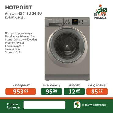Öndən Avtomat Washing Machine Hotpoint Ariston 9 kq