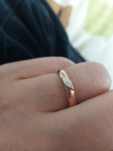 Обручальное кольцо с бриллиантом, в Кемин