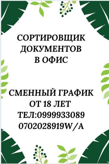 Поиск сотрудников (вакансии) - Бишкек: Сортировщик документов  RPгрупп в сотрудничестве с компанией СПБ актив