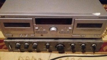 Bakı şəhərində Satilir.iki kasetli JVS magnitafonu usilitelnen bir yerde.led