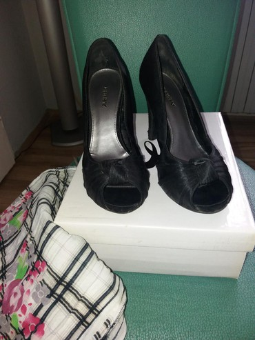Ženska obuća | Bor: POVOLJNO plus POKLON samo 350 din.Crna polucipela od satena marke