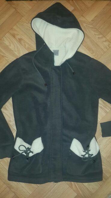 Женская тёплая стильная толстовка-куртка