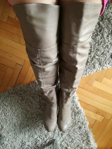 Zenske cizme preko kolena, kao nove, bez ogrebotine,ravne - Nis