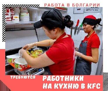 Работа - Кыргызстан: Работа работник на кухне в БолгарииКомпания KFCг. София Опыт работы
