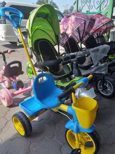 детский трехколесный в Кыргызстан: Детские трехколесные велосипеды управления пр Россия есть доставка по