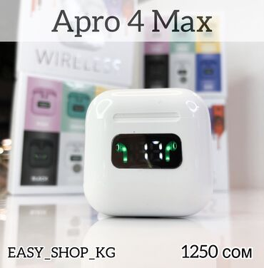 """Наушники, Беспроводные наушники""""Apro 4 Max"""" имеют миниатюрный размер😍"""