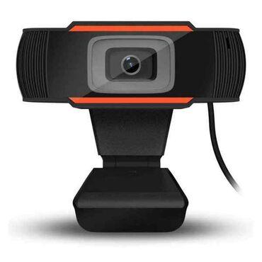 веб камеры 1280x1024 в Кыргызстан: Web Camera A870 (микрофон, USB, HD, 1280х720, Black/Orange)