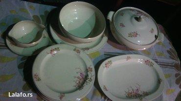 Prelepi porcelanski set, za ručavanje..  Set čine dve činije za čorbic - Cuprija - slika 5