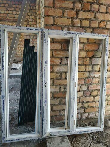 ustanovka windows s vyezdom na domu в Кыргызстан: Продаю окна пластиковый, немецкий, новый 150*150 двухслойный