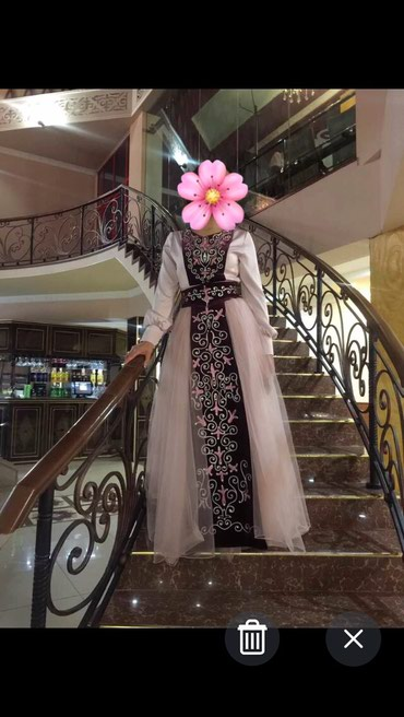 размер 38 м в Кыргызстан: Продаю красивое,нарядное платье пыльно-розового цвета, надевала один