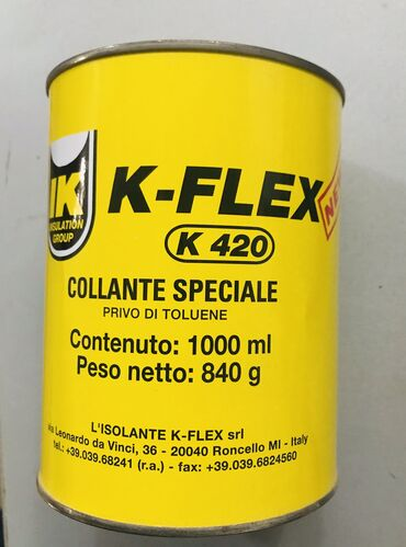 Клей K–FLEX K 420. Izolasiya,Dolgu ucun,Kipleshdirici ucun, Kley DAGA