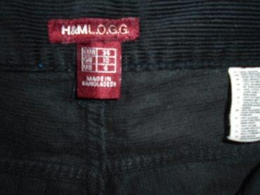 H&M L.O.G.G. pantalone od uskog crnog somota, širih nogavica. - Belgrade