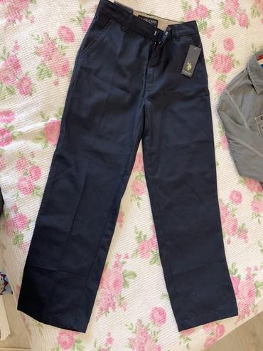 Мальчиковские брюки темно синие, х/б, 10-12 лет, заказывала с Америки