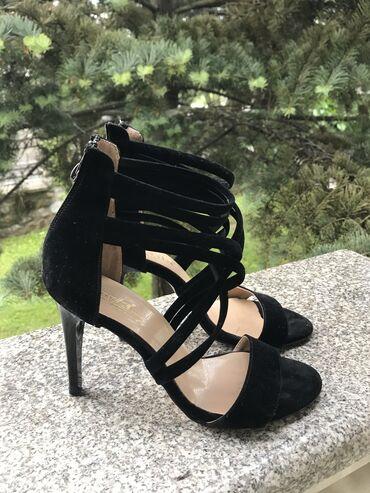 """Crne sandale """"PERLA"""", broj 37, gazište 23,5 cm"""