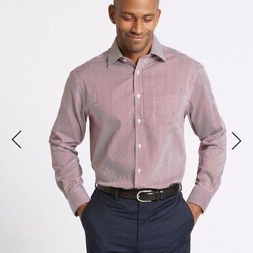 Мужская одежда - Кыргызстан: Мужская рубашка от Mark&Spencer классического кроя. Новая, без