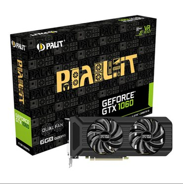 Видеокарта GeForce® GTX 1060 6 Gb DUAL FAN Б/У в Бишкек