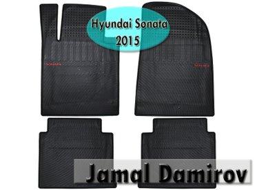 Bakı şəhərində Hyundai Sonata 2015 üçün silikon ayaqaltılar. Силиконовые коврики