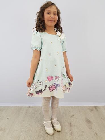 платье халат из плотной ткани в Кыргызстан: Нарядное платье для девочки артикул: диваразмеры: 110, 116, 122