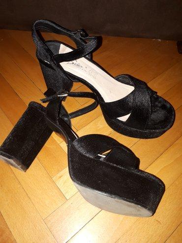 Nove nenošene Safran crne sandale od antilopa broj 40 i 41. Visina - Kragujevac