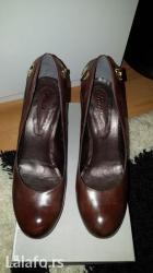 Cm obim tamno sive - Srbija: Nove paar cipele od prave koze. Visina pete 9 cm. Stabilne i