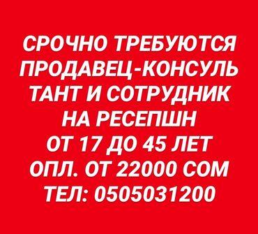 работа с ежедневной оплатой мороженное бишкек в Кыргызстан: Срочно требуется продавец-консультант и сотрудник на ресепшн в