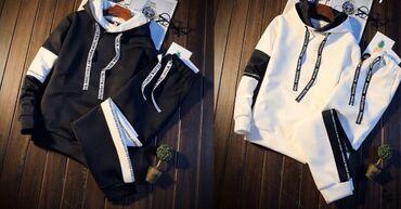sportivnye kostjumy muzhskie xl razmer в Кыргызстан: Спортивный костюм 4 размера: Xl,L,M,S Два цвета: Чёрный,Белый