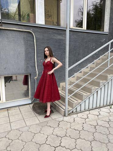 платье миди в полоску в Кыргызстан: Прокат платьев, вечерние платья, Аренда __Красивое кукольное миди