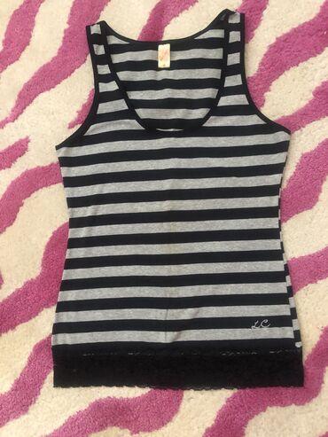 Majice na veliko - Srbija: Majica na pruge sa cipkom,marka Lee Cooper,velicina M,95 % pamuk5%