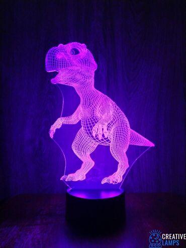 ХИТ ПРОДАЖ3D Светильник меняющая в виде ДинозавраОтличный подарок для
