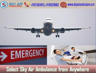Sky Air Ambulance in Mumbai with Hi-tech Medical Treatment in Kamalamai