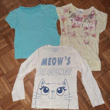 Ostala dečija odeća | Cacak: Velicine su sledece: 1.plava majica 6-7 ili 110/116,2.zuta majica