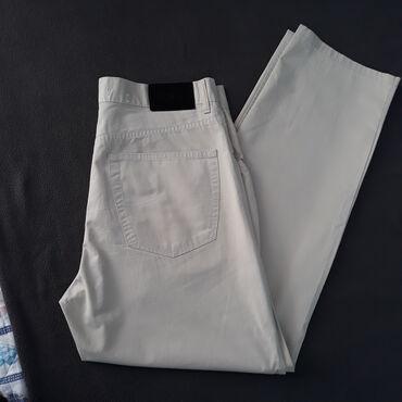 Muška odeća | Srbija: Ocuvane letnje pantalone u krem/drap boji. Kvalitetne 100% pamuk. Veli