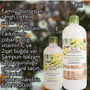 Bakı şəhərində Sebilife firması. Family doktor bitki tərkibli  rəngli saçlar üçün şam