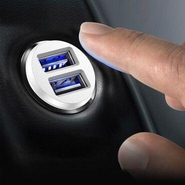 Upaljac - Srbija: Brzi auto 2-port USB punjač BaseusBrzi USB punjač sa auto-priključkom