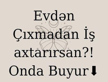 daye isi teklif olunur - Azərbaycan: İşləmək istəyən xanımları komandaya dəvət edirəm.İş telefon vasitəsilə